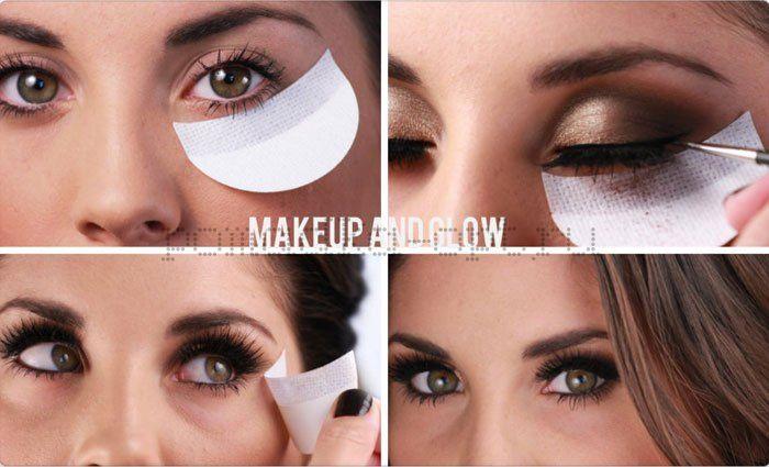 Наклейки для макияжа под глазами